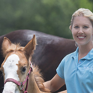 Brown Creek Animal Hospital Owner and Baby Horse