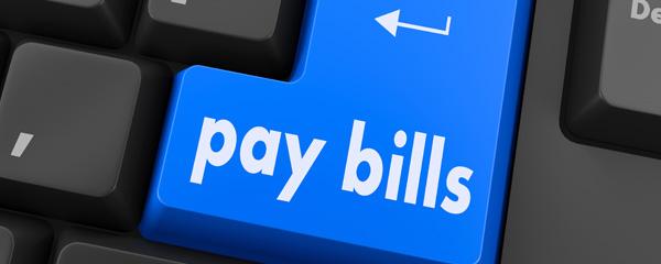 Pay bills button