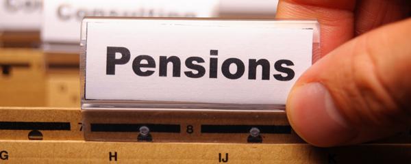Pension tab on folder